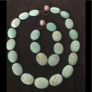 Turquoise Necklace & Bracelet/Lord & Taylor's